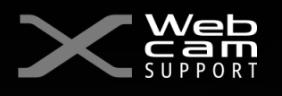 X WEB CAM SUPPORT LOGO