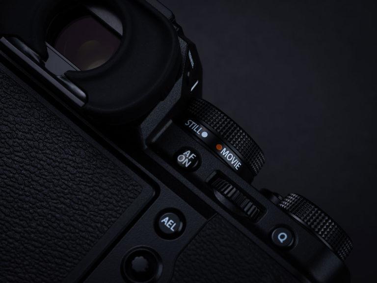 mude o botão da câmera para opção still